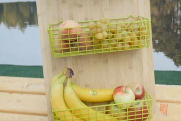 DIY falra szerelhető gyümölcstartó